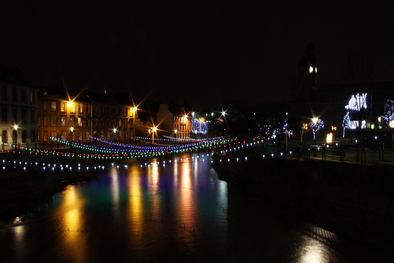 Paisley Christmas Lights. White Cart River