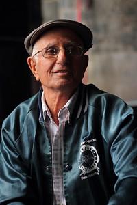 Manuel José da Silva (São Roque do Pico, Pico), born 1931, pictured at the whaling factory in São Roque where he used to work. August 9, 2012.