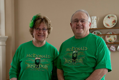 Jim and Fran - Ready for St Pats Party