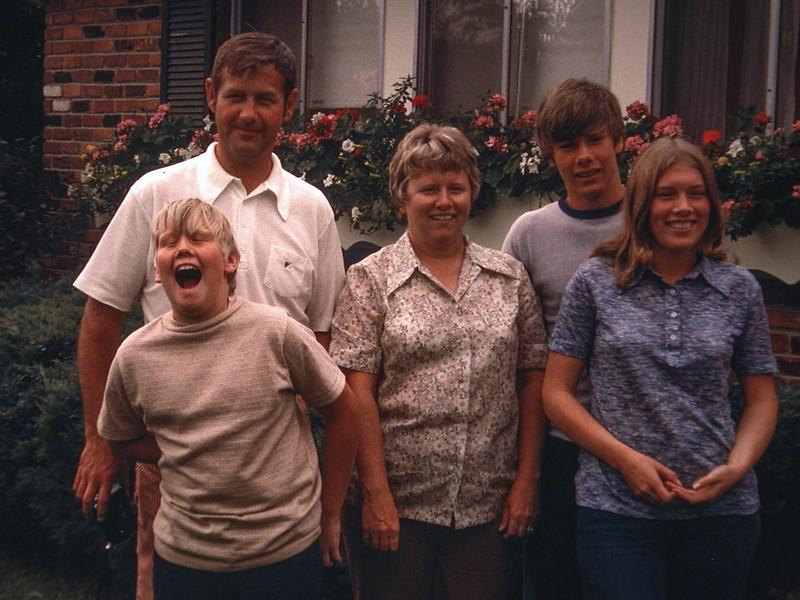 1973; Tom, Jim, Diane, Tim and Becky