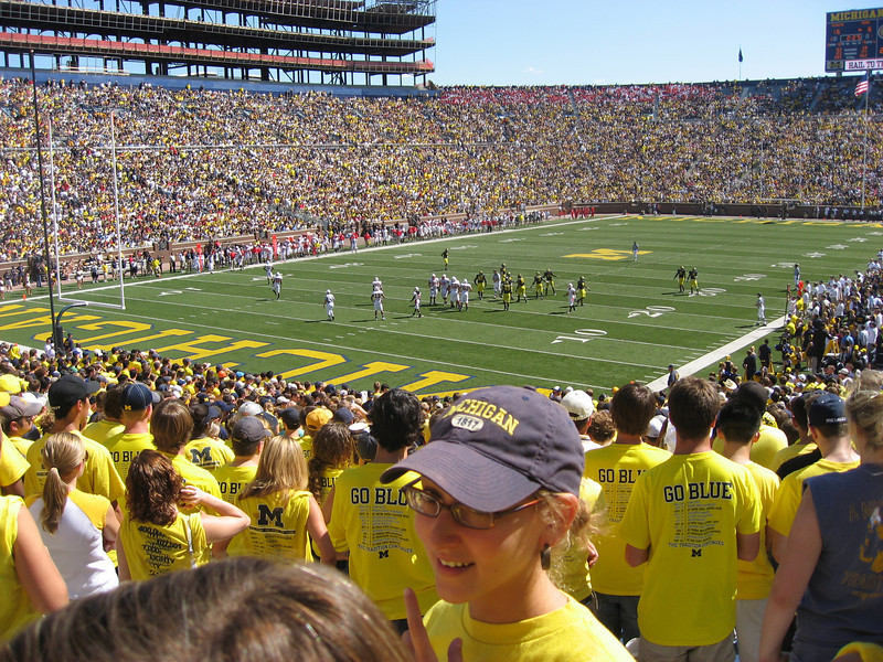 More Michigan football, taken from the student section