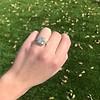 2.85ct Antique Cushion Cut Diamond Halo Ring 31