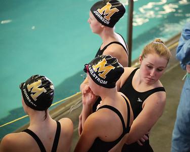 MHS Swim at League Prelims
