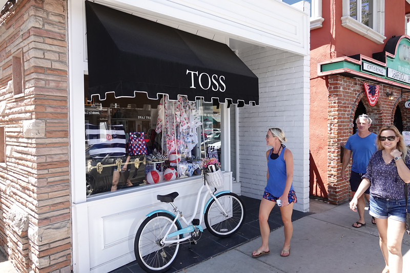 More beach themed merchandise at the Toss store on Marine Avenue
