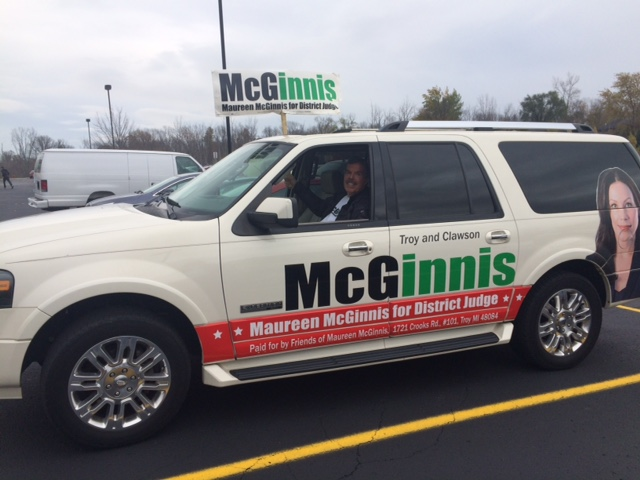 . Maureen McGinnis, an attorney and Troy city councilwoman, campaigns for the 52-4 District Court seat, in Troy, vacating by retiring judge William Bolle. (Submitted by Maureen McGinnis.)