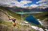 """""""Hector and Margaret Lakes"""" - Scenes from a rare ascent of Pulpit Peak, Banff National Park, Alberta, Canada."""