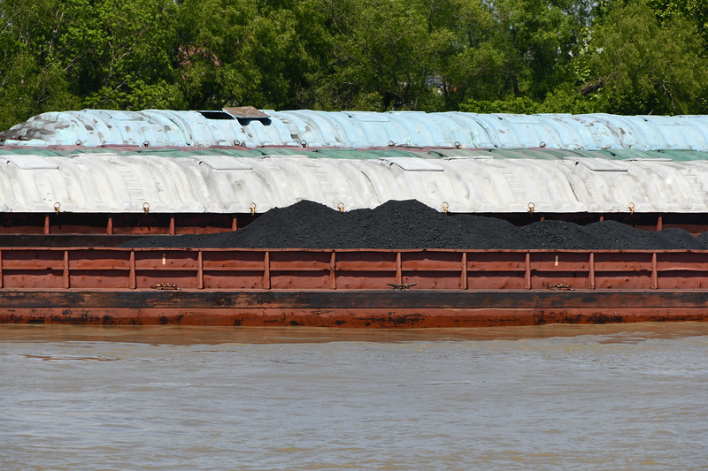 Shipping Barges Filled with Coal