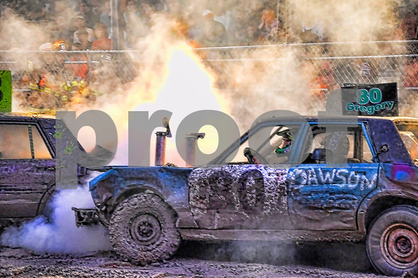 Demolition Derby 2012 Walton Fair NY