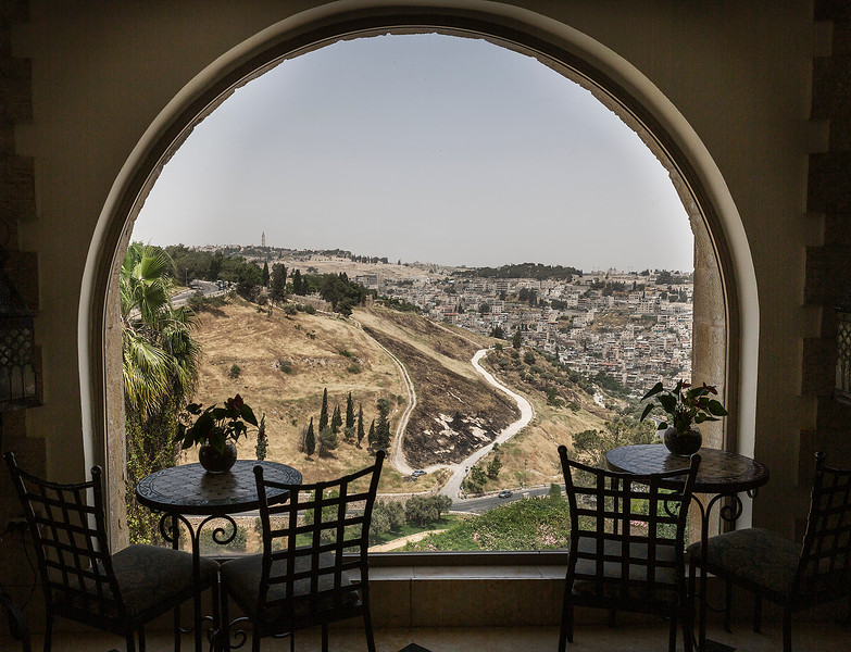 View from Mount Zion Hotel of a portion of the City of David