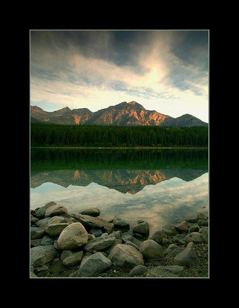Sunrise Over Patricia Lake and Pyramid Mountain, Jasper National Park