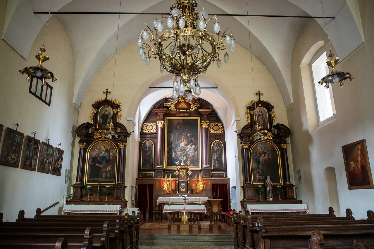 Interior of the Capuchin Church in Škofja Loka