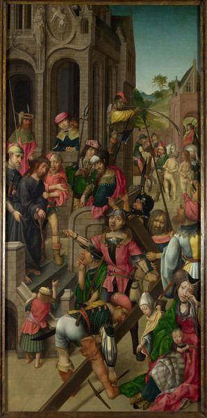 Christ presented to the People: Left Hand Panel