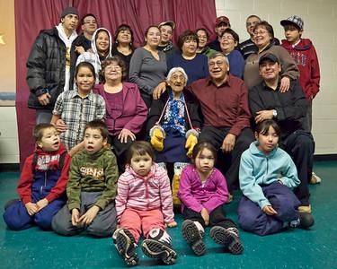Marguerite Wabano's 105th Birthday Party 2009 January 25