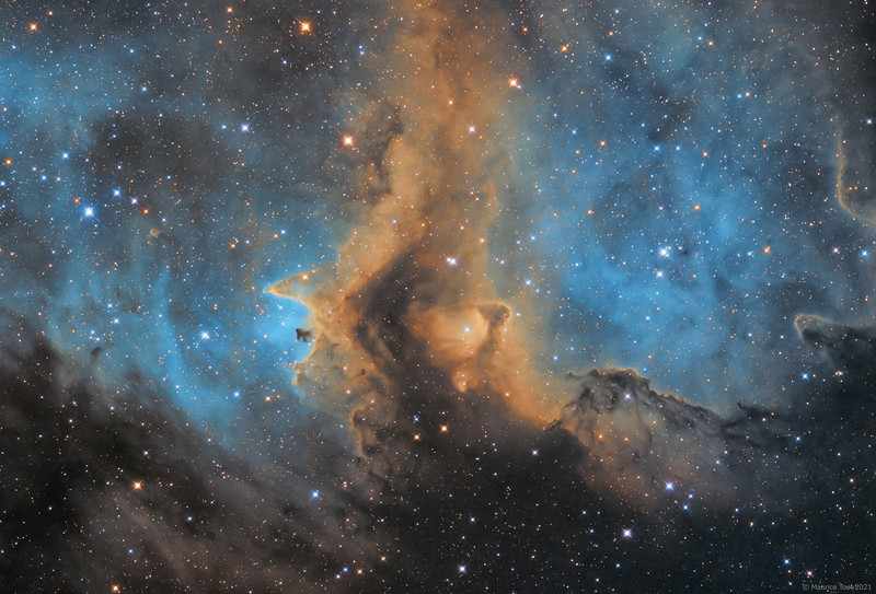 IC 1871, Great Rift in the Soul Nebula (SHO)