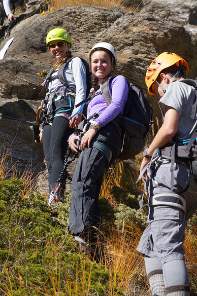 Ashlyn, Peyton, and Matt at the Via Ferrata