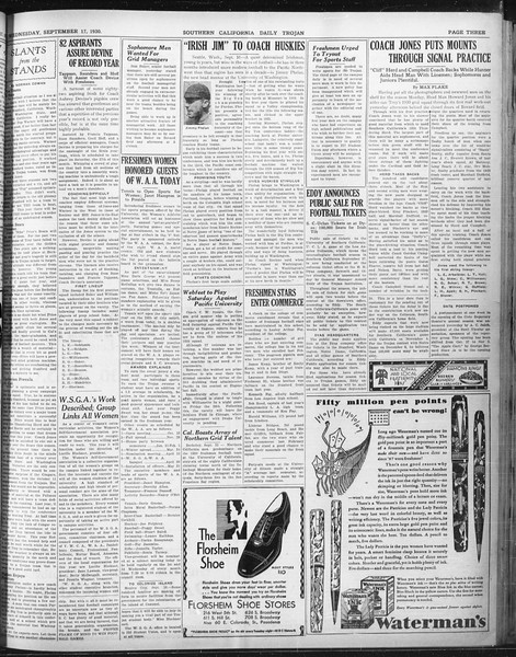 Daily Trojan, Vol. 22, No. 4, September 17, 1930