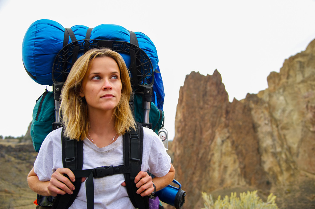 """. This image released by Fox Searchlight Pictures shows Reese Witherspoon in a scene from the film, \""""Wild.\"""" Witherspoon was nominated for a Golden Globe for best actress in a drama for her role in the film on Thursday, Dec. 11, 2014. The 72nd annual Golden Globe awards will air on NBC on Sunday, Jan. 11. (AP Photo/Fox Searchlight Pictures, Anne Marie Fox)"""