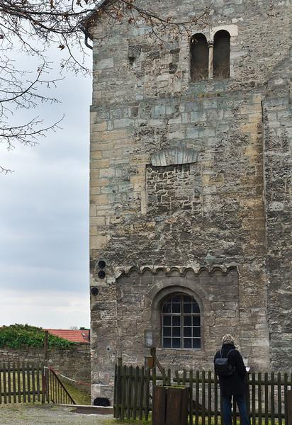 Weissensee, Runneburg. Hofseite, Detail