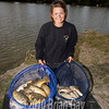 Misha Herring with her catch of carp and silvers taken on the pole shallow from Trinity Waters, Woodland Lake, 280510. © 2010 Brian Gay