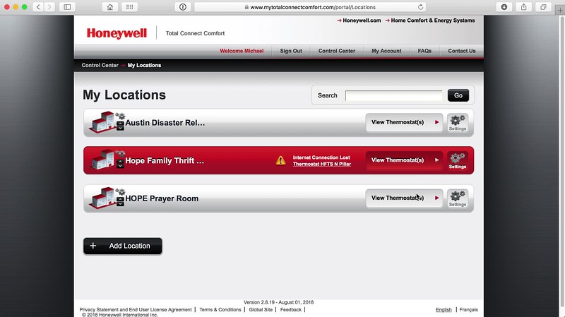 Honeywell Total Conect Comfort Web Interface.mov