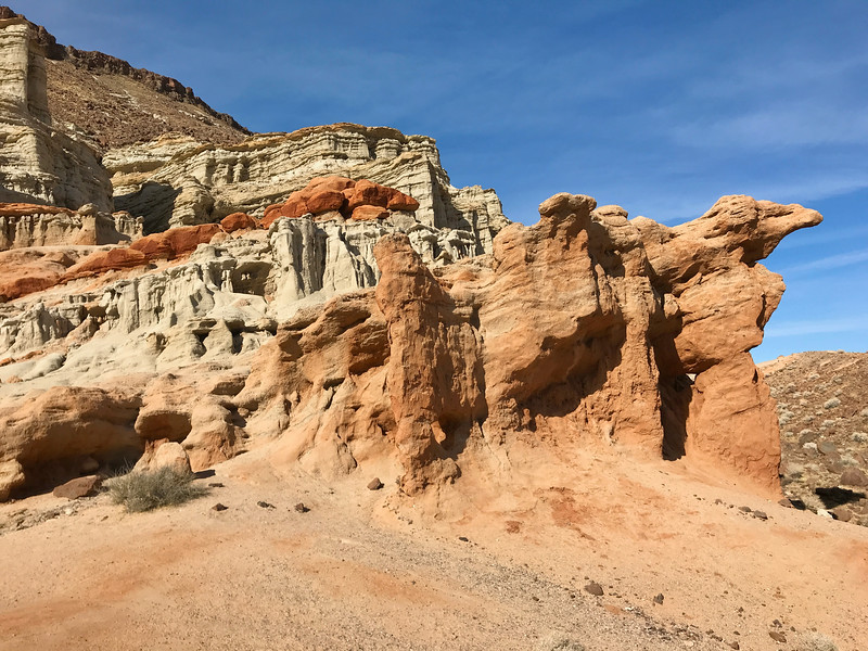 Colorful formation in Red Rock Canyon