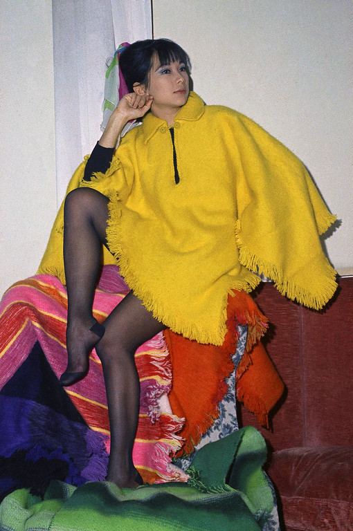 ". Colombian designed ""Poncho\"" shaped cape, Dec. 20, 1968. (AP Photo/Mario Torrisi)"