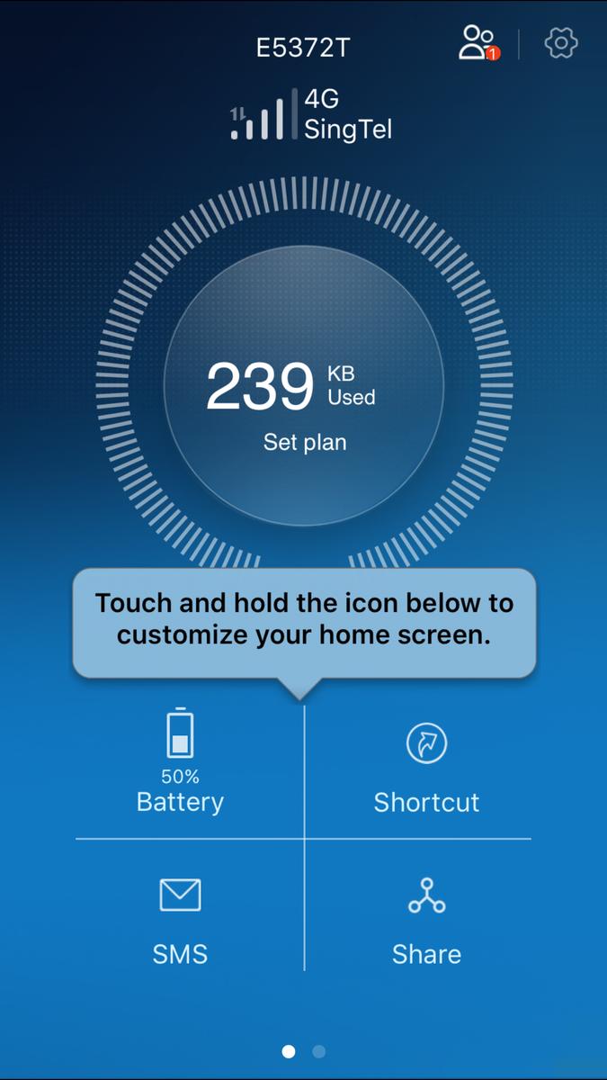 Huawei Wifi MIFI iOS App Huawei HiLink