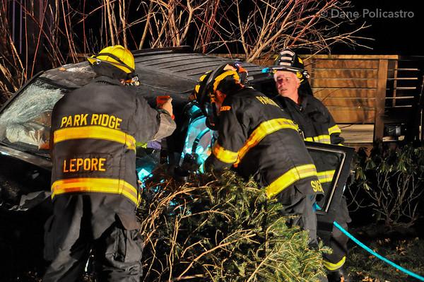 12-7-2012 Park Ridge, NJ Motor Vehicle Entrapment: Kinderkamack Road & Chadwick Court