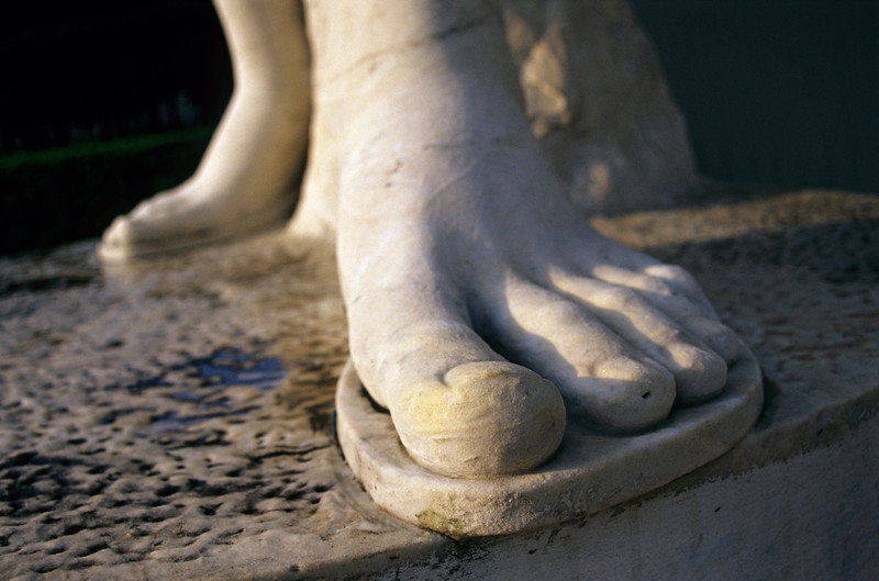 Foot of Statue, Foro Italico, Rome, Italy