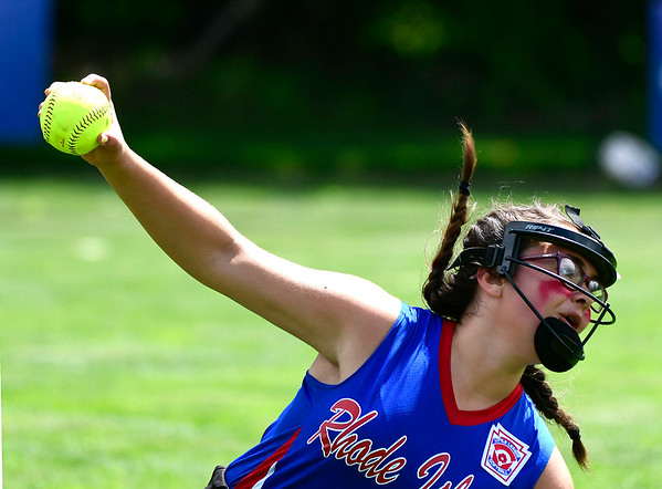 7/25/2018 Mike Orazzi | Staff Rhode Island's Gabrielle Valletta (11) during a win over Delaware at Breen Field in Bristol Tuesday afternoon.