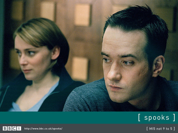 Matthew in Spooks with wife Keeley Hawes