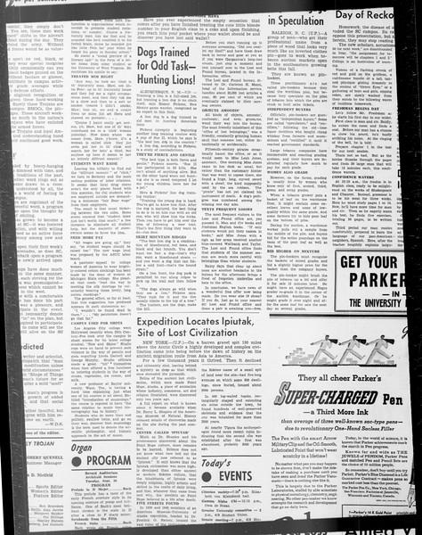 Daily Trojan, Vol. 33, No. 17, September 25, 1941