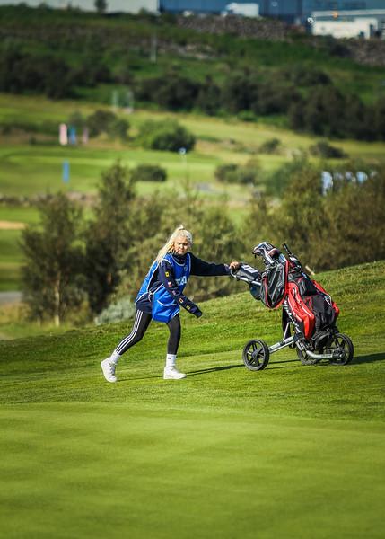 Kinga Korpak.  Íslandsmót í golfi 2019 - Grafarholt 2. keppnisdagur Mynd: seth@golf.is