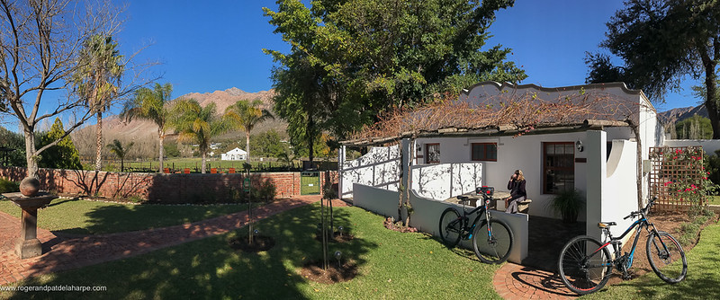 Comfortable rooms, lovely gardens and great, mountain biking hosts make Long Acres Cottages a great riding base.