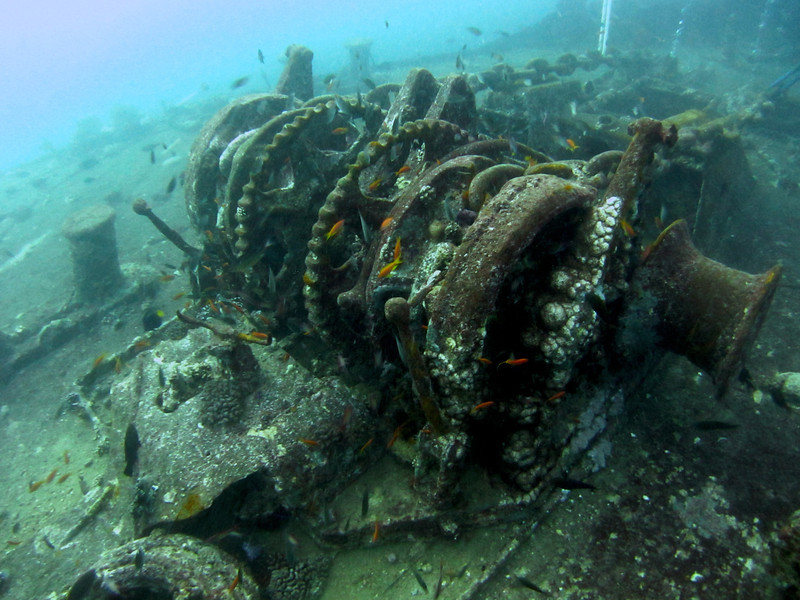 A winch thingy on the Thistlegorm