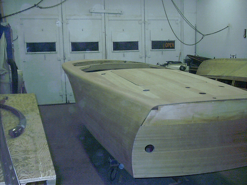 Port rear cover board shaped and sanded.