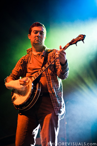 Dave Johnston of Yonder Mountain String Band performs on February 5, 2011 at Jannus Live in St. Petersburg, Florida