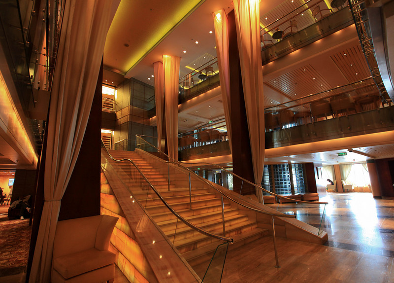 main staircase on the cruise ship