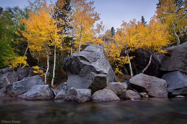 Open River Sierra Nevada Mountain Range, California 2008 Fall Season