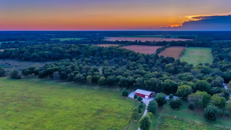 MO Pecan Farm Sunset