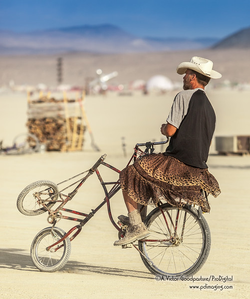 Burners brought with them all sorts of creatively engineered bicycles.