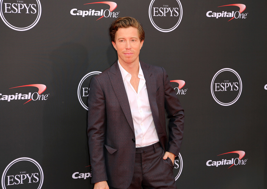 . Snowboarder Shawn White arrives at the ESPY Awards at Microsoft Theater on Wednesday, July 18, 2018, in Los Angeles. (Photo by Willy Sanjuan/Invision/AP)