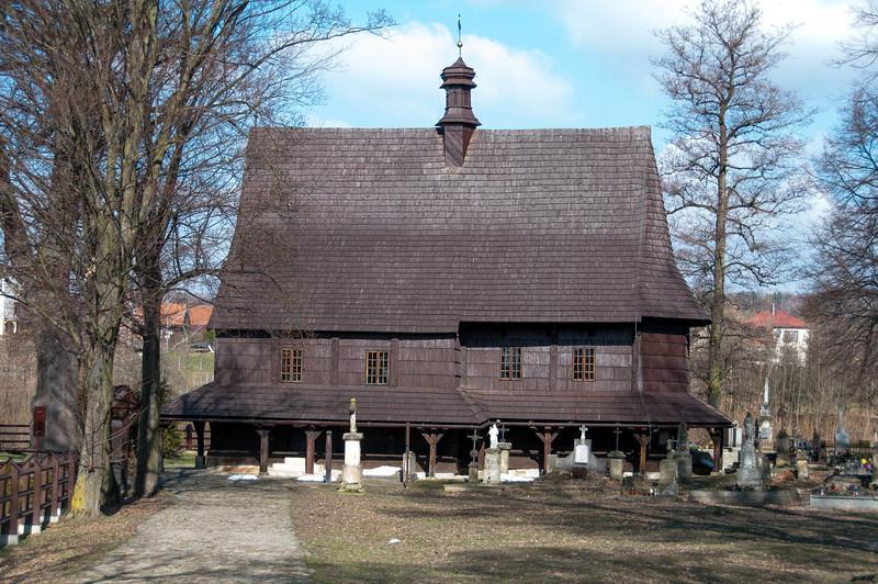 Saint Leonard Church facade in Lipnica Murowana in Poland