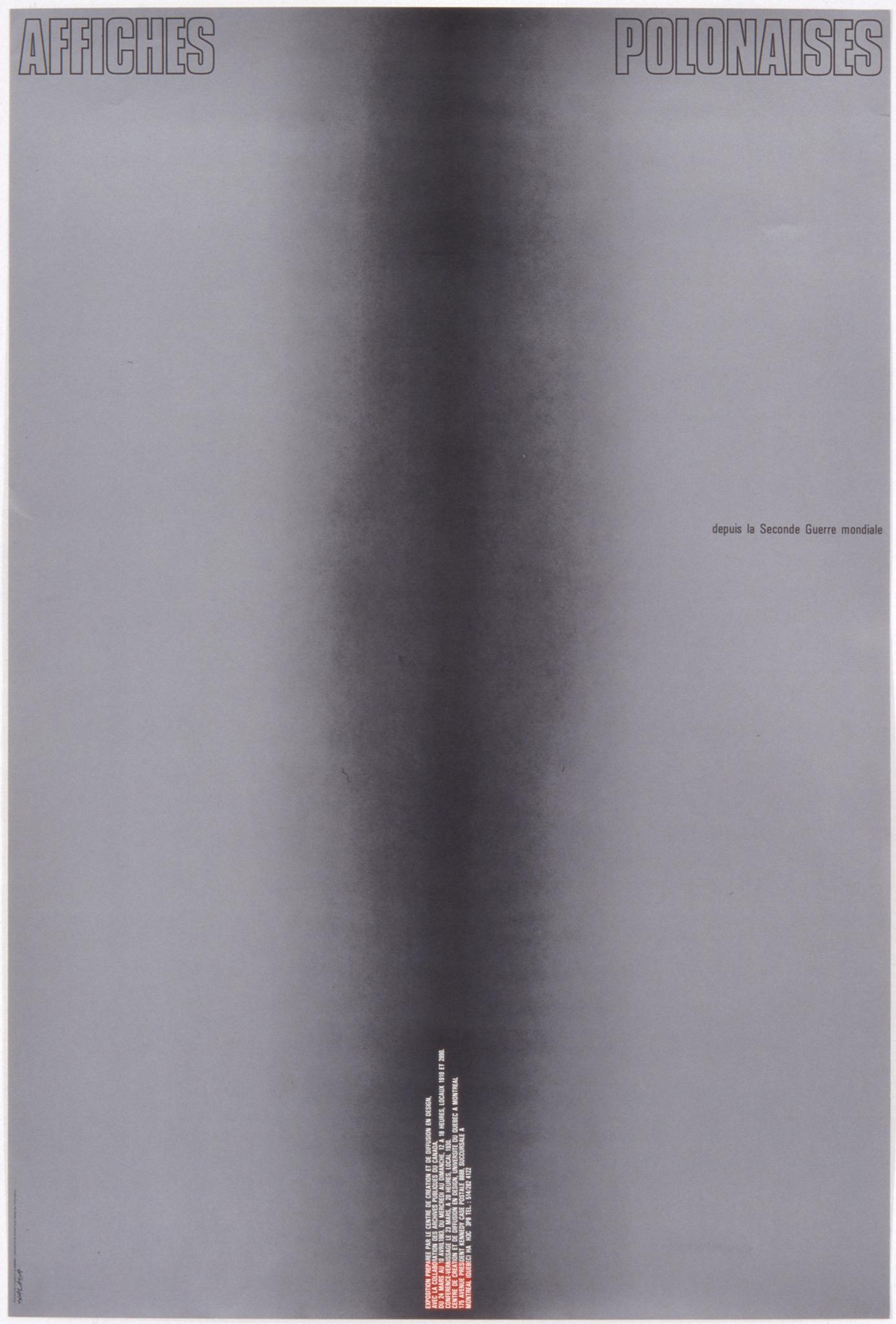 1983 - Exposition - Affiches polonaises depuis la Seconde Guerre mondiale ©Alfred Halasa
