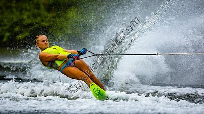 Slalom water skiing