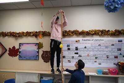 Statistics Bungee Balloon Drop Preparations, Day 1
