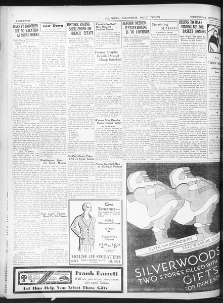 Daily Trojan, Vol. 22, No. 65, December 17, 1930