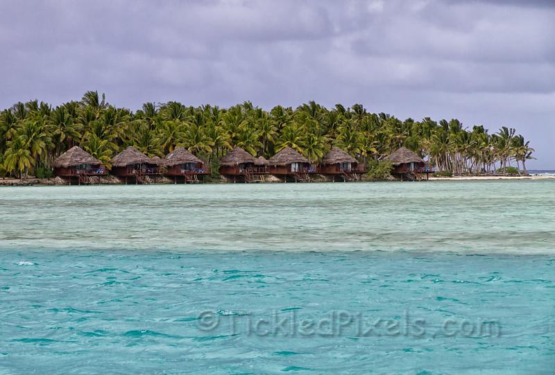Overwater Bungalows at the Aitutaki Lagoon Resort & Spa
