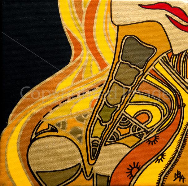 A Lady's Neck (Acrylic on Canvas)