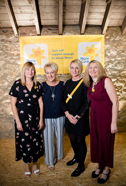 l-r Friends Nicky Donnelly, Fiona MacIntyre, Ceri Ewing and Lucille Brooks at the the 2018 ladies lunch for Marie Curie)  PHOTO BY JOHN PAUL PEEBLES OF ABRIGHTSIDE